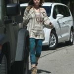 Paris Jackson in a Green Leggings Was Seen Out in Hollywood