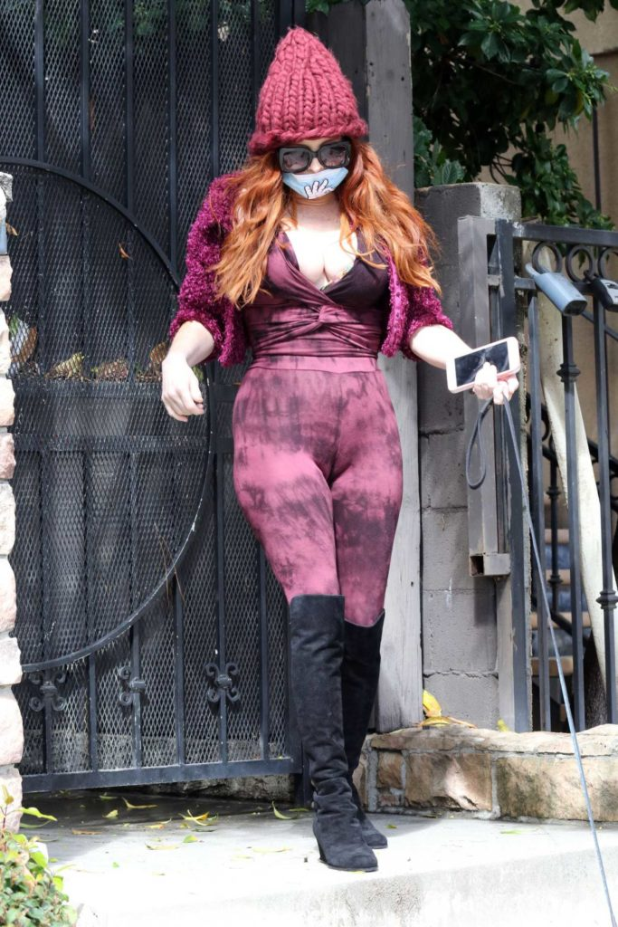 Phoebe Price in a Surgical Face Mask
