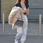 Rebecca Gormley in a White Nike Sneakers Was Seen Out in Newcastle