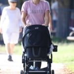 Sylvia Jeffreys in a Purple Tee Was Seen Out in Sydney