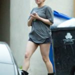 Ariel Winter in a Gray Tee Leaves Her House in Los Angeles