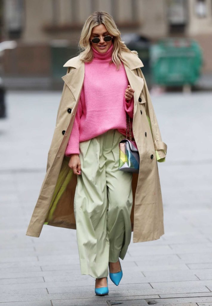 Ashley Roberts in a Pink Turtleneck