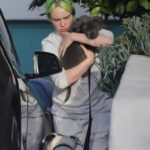 Billie Eilish in a Gray Sweatshirt Was Seen Out with Her Pup During the COVID-19 Lockdown in Los Angeles