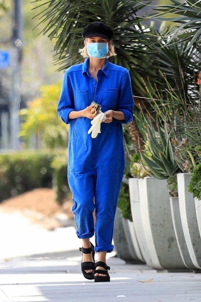 Diane Kruger in a Blue Jumpsuit