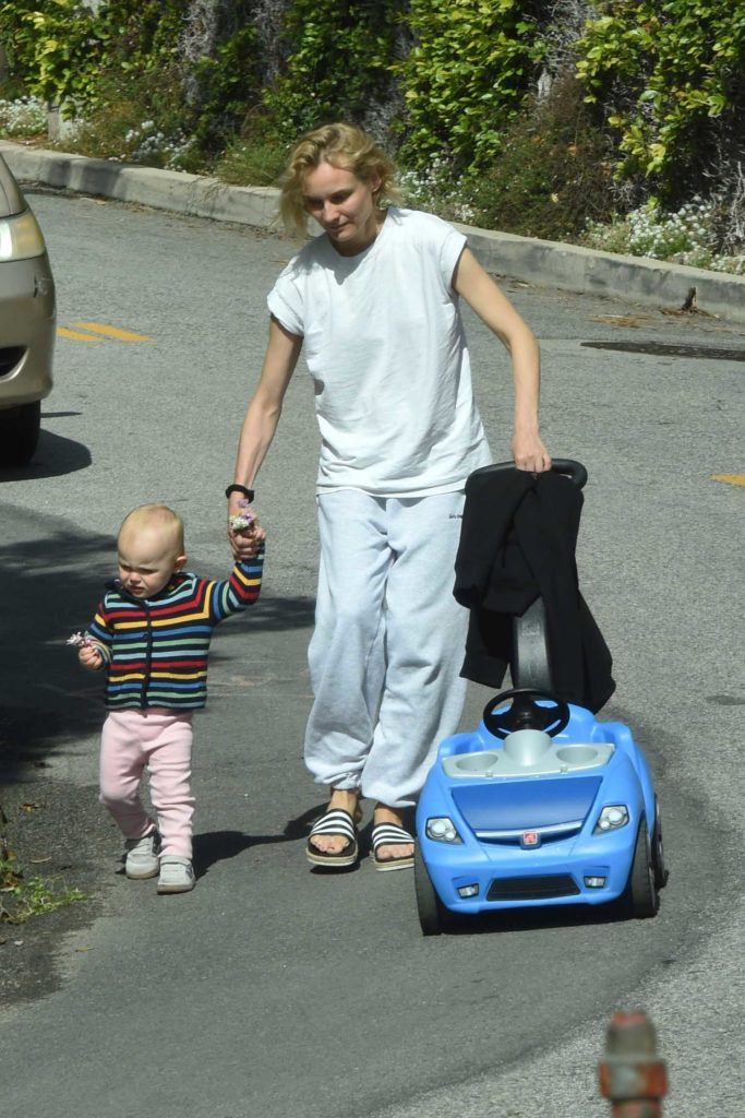 Diane Kruger in a White Tee