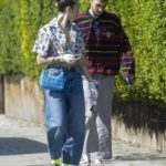 Dua Lipa in a Black Sneakers Was Seen Out with Anwar Hadid in London