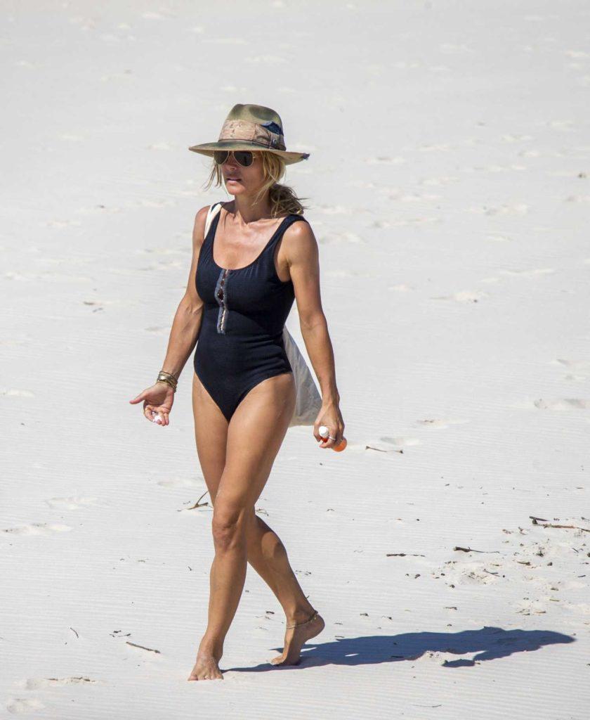 Elsa Pataky in a Black Swimsuit