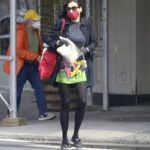 Famke Janssen in a Red Face Mask Was Seen Out in New York