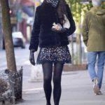 Famke Janssen in a Short Black Fur Coat Was Seen Out in New York
