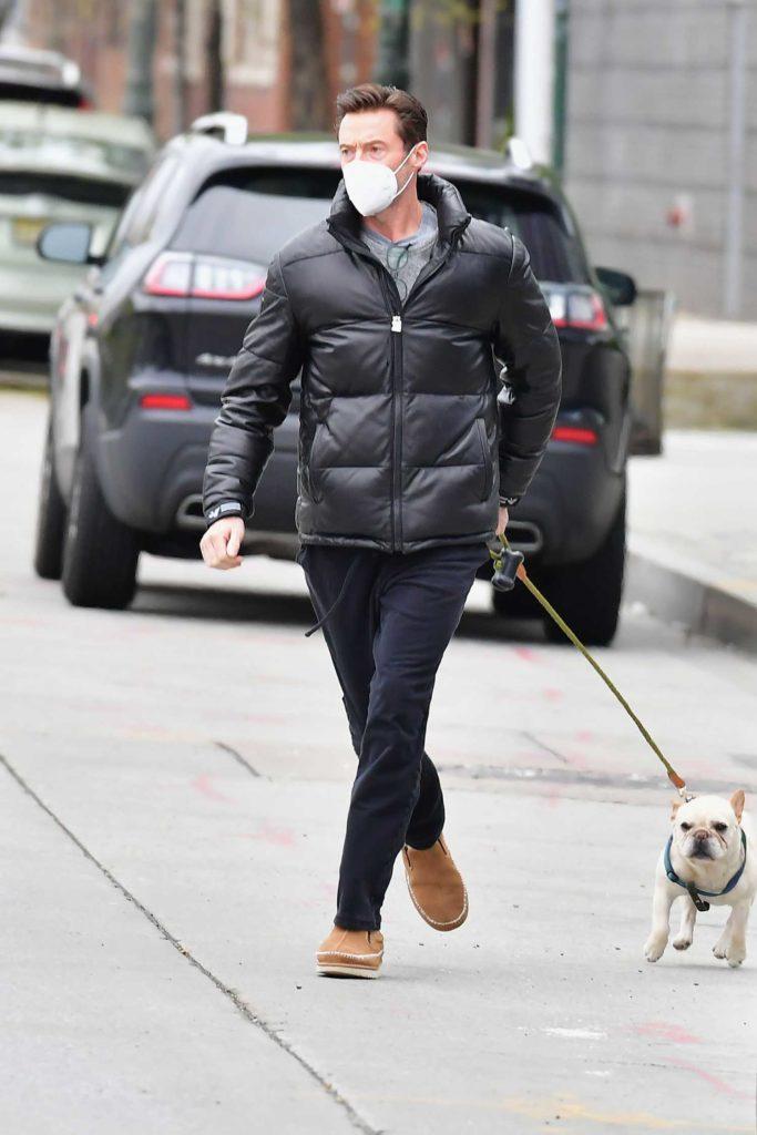Hugh Jackman in a Black Jacket