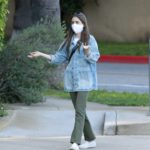 Lily Collins in a Face Mask Was Spotted in Beverly Hills