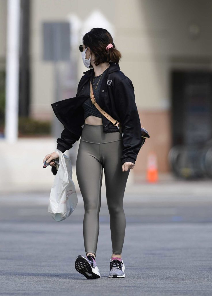 Lucy Hale in a Surgical Face Mask