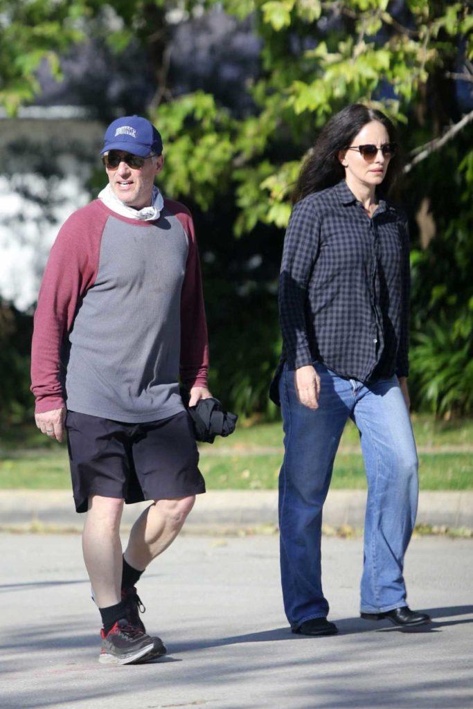 Madeleine Stowe in a Black Checked Shirt