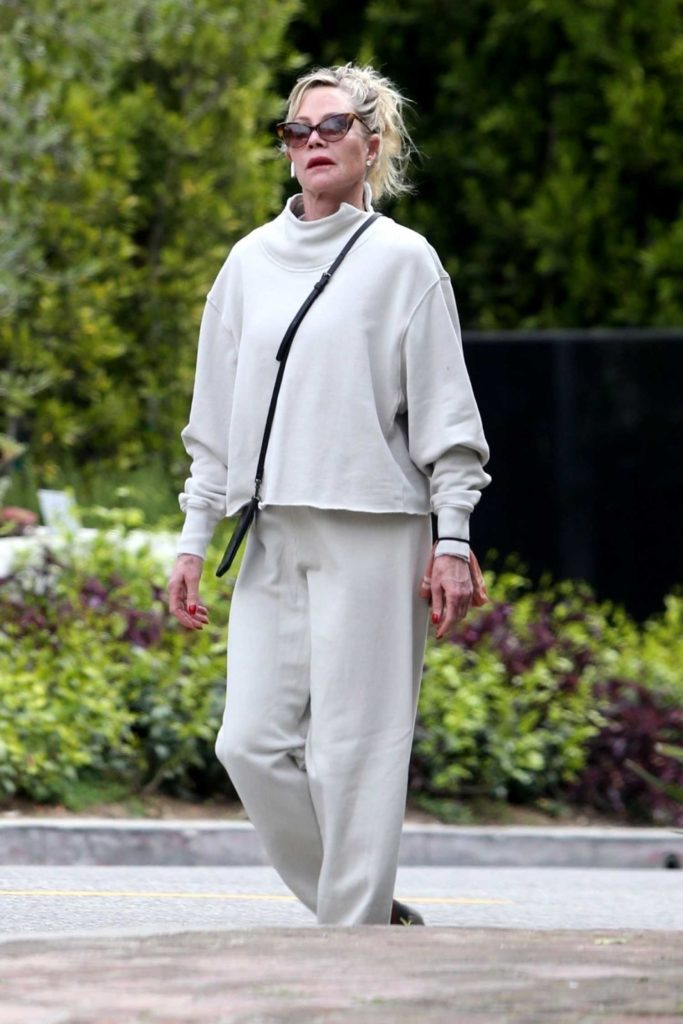 Melanie Griffith in a White Sweatsuit