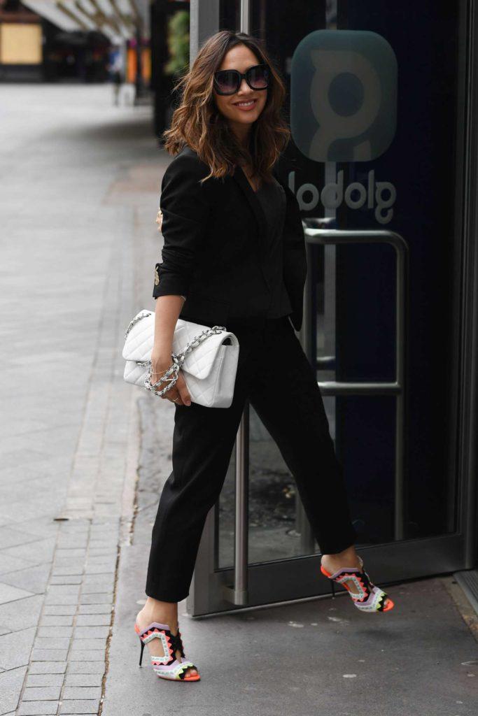Myleene Klass in a Black Suit