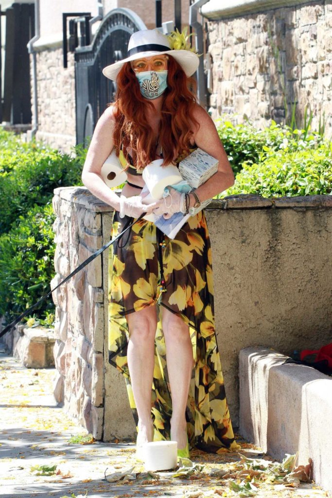 Phoebe Price in a Floral Print Dress