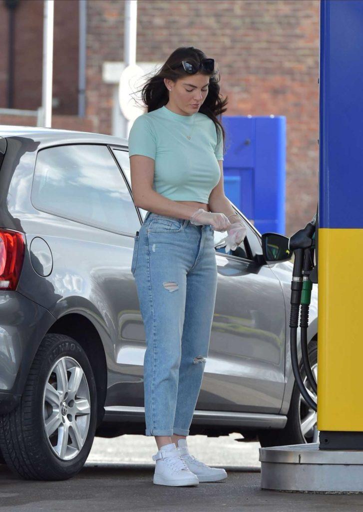 Rebecca Gormley in a Blue Ripped Jeans