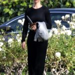 Rosie Huntington-Whiteley in a Black Pants Was Seen Out in Beverly Hills