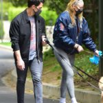 Sophie Turner in a Black Face Mask Walks Her Dogs Out with Joe Jonas During the COVID-19 Lockdown in Los Angeles