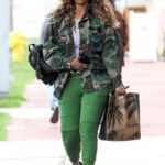 Tyra Banks in a Camo Jacket Goes to Erewhon Organic in Pacific Palisades