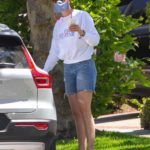 Amanda Kloots in a White Sweatshirt Was Seen Out in Los Angeles