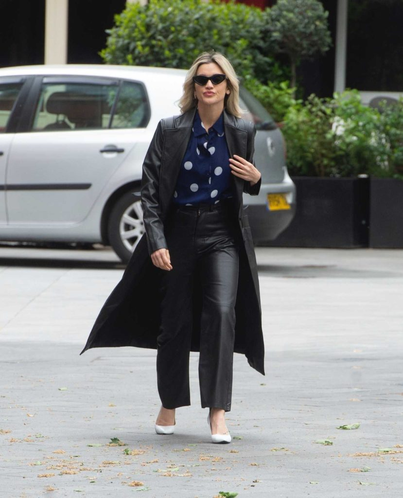 Ashley Roberts in a Black Trench Coat