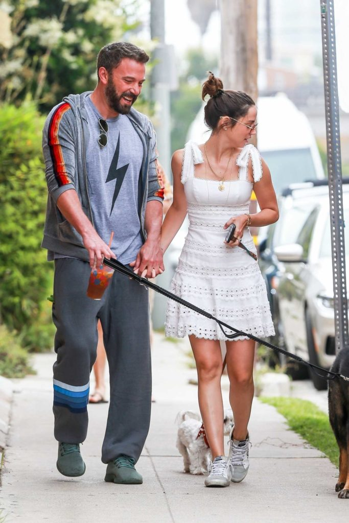 Ben Affleck in a Gray Track Pants
