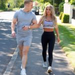Bianca Gascoigne in a Gray Sports Bra Was Seen Out with a Mystery Man in Gravesend
