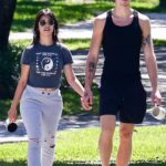 Camila Cabello in a Gray Ripped Sweatpants Was Seen Out with Shawn Mendes in Coral Gables