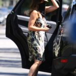 Cindy Crawford in a Camo Dress Was Seen out with Kaia Gerber in Santa Monica