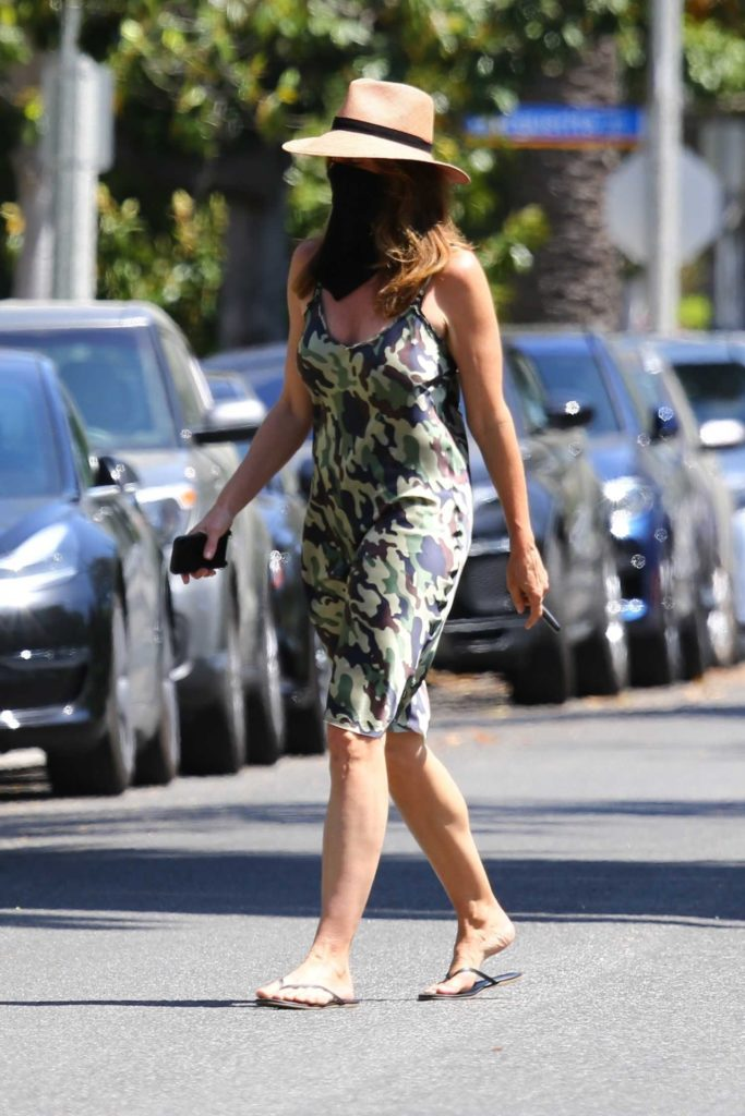 Cindy Crawford in a Camo Dress