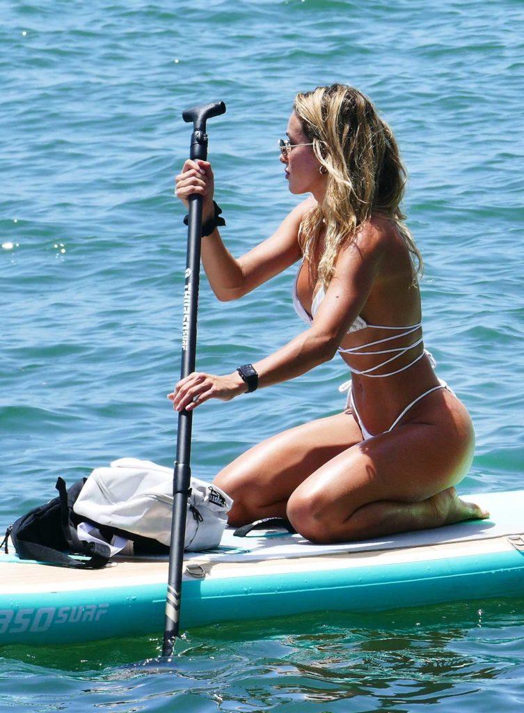 Cindy Prado in a White Bikini