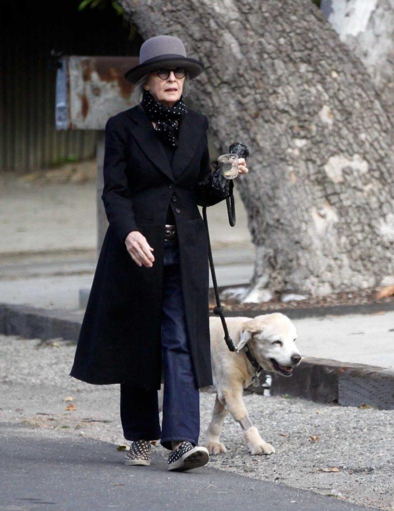 Diane Keaton in a Black Coat