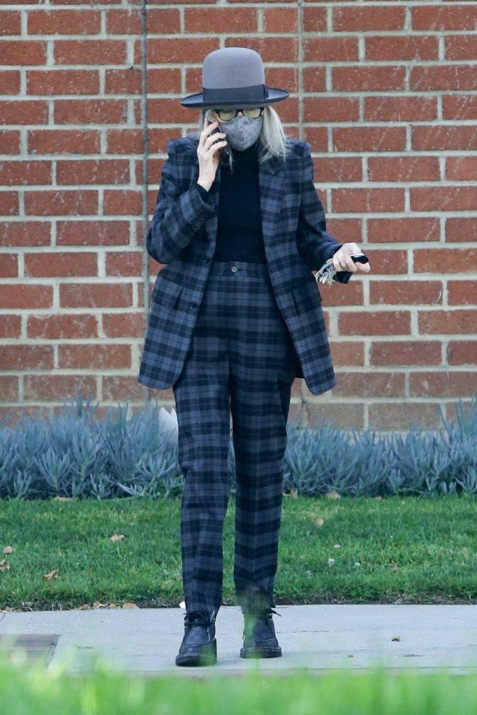 Diane Keaton in a Plaid Suit