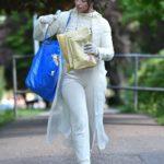 Francesca Allen in a White Jogging Suit Was Seen Out in London