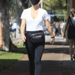 Gwyneth Paltrow in a Black Sneakers Enjoys a Sunday Stroll Out with Brad Falchuk in West Hollywood