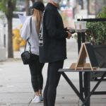 Hailey Bieber in a Black Sweatshirt Stops at Backyard Bowls in West Hollywood