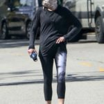 Helen Hunt in a Bandana as a Face Mask Was Seen Out in Brentwood