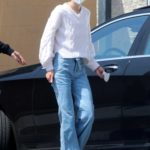 Jaime King in a Protective Mask Was Seen at a Local Gas Station in Hollywood
