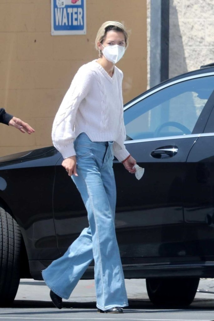 Jaime King in a Protective Mask