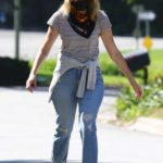 Laura Dern in a Bandana as a Face Mask Was Seen Out in Pacific Palisades