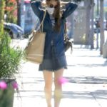 Lily Collins in a Protective Mask Goes Grocery Shopping in Los Angeles