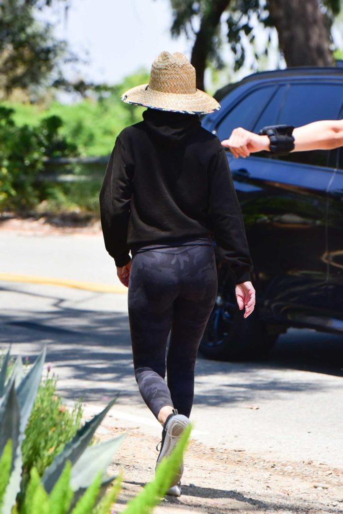 Lisa Rinna in a Black Hoody