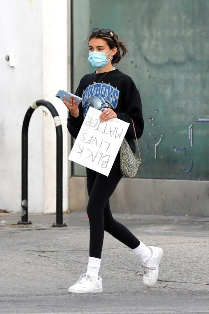 Madison Beer in a Protective Mask