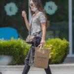 Megan Fox in a Camo Tee Goes Shopping at Erehwon Organic in Calabasas