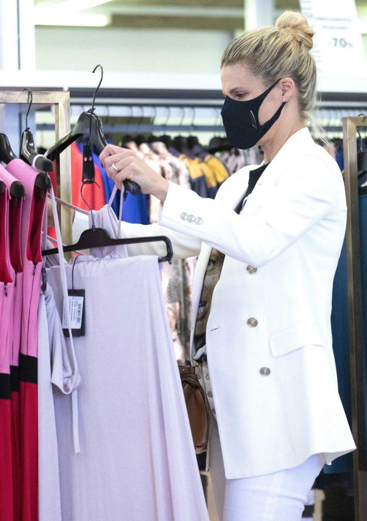 Michelle Hunziker in a White Blazer
