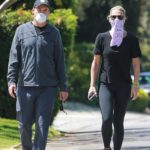 Molly Sims in a Black Tee Was Seen Out with Her Husband in Santa Monica