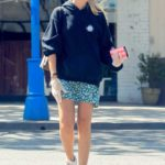 Nicole O'Brien in a Blue Hoody Was Seen Out in West Hollywood