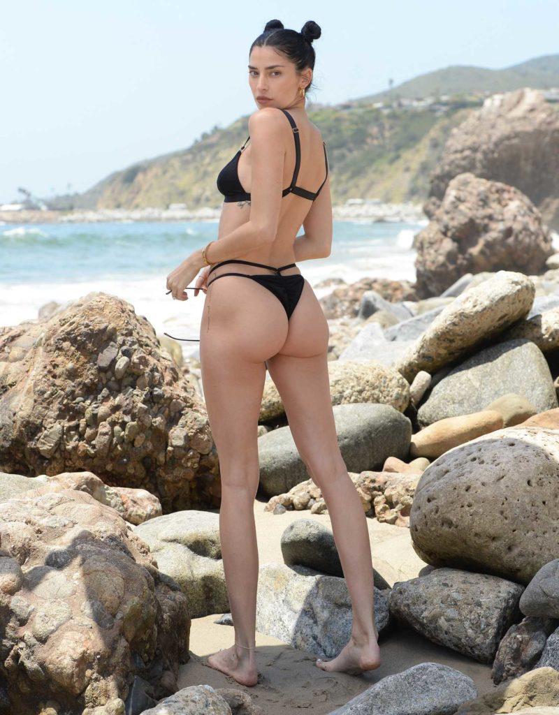 Nicole Williams in a Black Bikini
