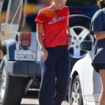 Olivia Wilde in a Red Tee Was Seen Out in Los Angeles